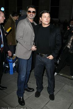 Me and my man: George pictured with Kenny back in 2008, a year before they split ...