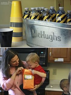 Construction Drinks and Lunch Bags for Kids