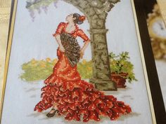 Maria Diaz FLAMENCO DANCER Cross Stitch by 1001PatternsEtc