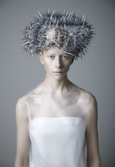 Prickly headdresses by Maiko Takeda glow in the dark