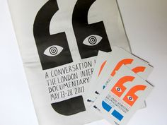 London International Documentary Festival identity by Heretic.