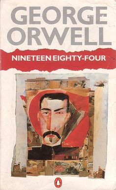 Nineteen Eighty-Four by George Orwell - Down with Big Brother George Orwell, Book Cover Design, Book Design, Great Books, My Books, Music Books, Nineteen Eighty Four, Penguin Books, Book Lovers