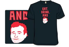 """""""Lost in Illustration"""" is a t-shirt design by artist Andrew Gregory featuring a clever play on words and the iconic Bill Murray. T-shirts are available to purchase online from Shirt.Woot"""