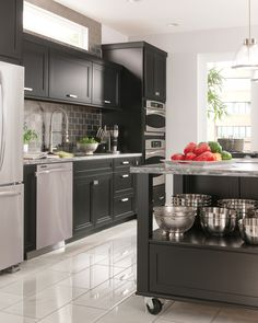 """Open on both ends, the corridor kitchen requires a minimum corridor width of 48""""…"""