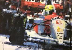 Rob Ijbema     Senna! Acrylic on canvas 8x12