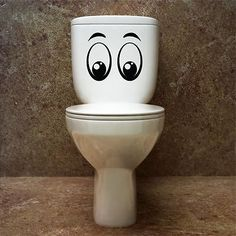 FUNNY TOILET STICKER 2 Sizes and 2 Designs Available Removable sticker S29 | eBay