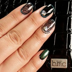 """Don't get too jealous, but we're featuring our """"Envy"""" #manicure created with #BM409 and some studs this #manimonday!"""