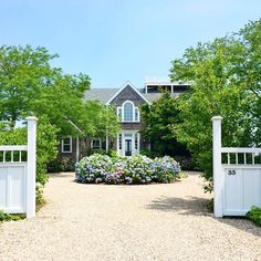 anchorsofyouth: 50 shades of how do I live here? (at Nantucket Island) 50 Shades of Grey (with white trim) House Landscape, Landscape Design, Garden Design, Driveway Design, Circle Driveway Landscaping, Driveway Ideas, Coastal Homes, My Dream Home, Curb Appeal