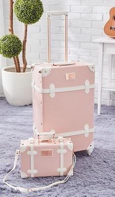 Vintage Look Spinner Gepäck & Carry On Travel Bag Set Modelle) . - Vintage Look Spinner Gepäck & Carry On Travel Bag Set Modelle) mit Rädern - Cute Luggage, Luggage Sizes, Best Luggage, Vintage Luggage, Carry On Luggage, Travel Luggage, Luggage Bags, Vintage Travel, Carry Bag