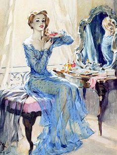 David Wright pin up girl Pinup Art, Pin Ups Vintage, Vintage Vogue, Dress Vintage, Solid Perfume, Art And Illustration, Girl Illustrations, Hollywood Glamour, Pin Up Girls