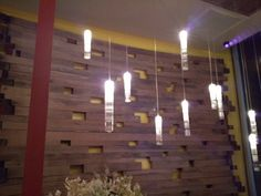 Voids in spacing to add pops of color from behind | Restaurant Design Gallery via Pioneer Millworks
