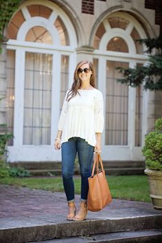 my everyday style: white lace top!