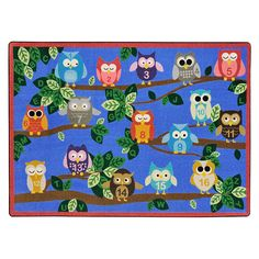 "It's a Hoot Rug - Rectangle - 5' 4""W x 7' 8""L at SCHOOLSin"