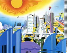 De steden uit de geest van Hiroshi Manabe (1932-2000).