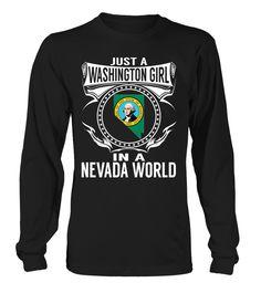 Washington Girl in a Nevada World State T-Shirt #WashingtonGirl