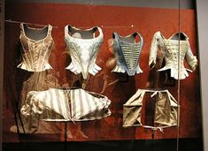 "18th cent German Museum Collection - Museum called these ""Schnürmieder"" where ""mieder"" means ""bodice"" for the upper body or chest......http://www.zum.de/Faecher/G/BW/Landeskunde/schwaben/schloesser/ludwigsburg/mode/rundgang/mieder01.jpg"