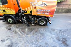 #Road #Sweepers #cleared the #oily #waste allowing the road to be #reopened within 3 hours!