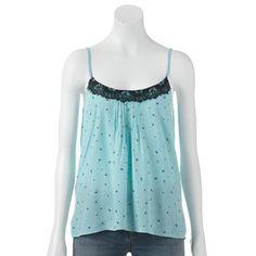 LC Lauren Conrad Floral Lace Camisole, $26.99