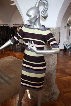 Anja Gockel Kleid Giselle path stripes trust