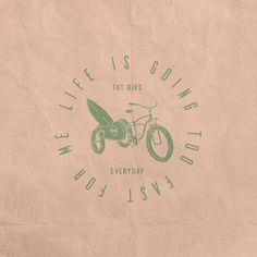 Fat Bike Everyday Available design!! #designforsale #behance #vintage #vintagedesign #badgedesign #dribbble #vector #surf