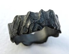 rustic viking ring hand carved, mens forged ring black silver, rugged silver ring, wide mens ring silver, rustic wedding from CrazyAssJewelry on Etsy. Mens Silver Necklace, Mens Silver Rings, Sterling Silver Rings, Silver Necklaces, Rustic Wedding Bands, Wedding Men, Wedding Rings, Neck Rings, Bold Rings