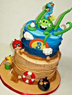 Angry Birds Beach - via @Craftsy