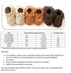DIY Lil' Papoose Moccasin pattern $5