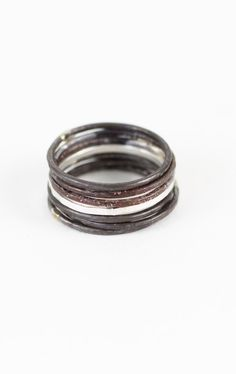 These rings are the coolest - wear them one at a time, all together, or mix and match with other rings in your collection! Danielle 7 Stack Ring Set, $98. I Love Jewelry, Jewelry Box, Jewlery, Jewelry Accessories, Jewelry Design, Everyday Rings, Bangles, Wedding Rings, Engagement Rings