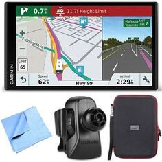 Garmin RV 770 NA LMT-S RV GPS Navigator for Camping w/ Air Vent Mount + Case Bundle