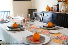 Thanksgiving Table | The Adventure Starts Here Blog