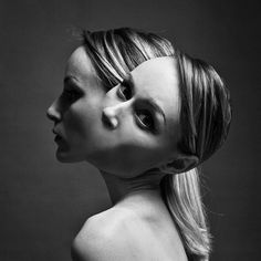 The Hungarian artist and photographerFlora Borsi, based in Budapest, unveils today herlatest project entitledSiamese, in which she puts herself on stage w