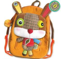 Eco Snoopers Plush Backpack Rabbit - Back to School,Special Gifts,Easter Gifts,Apparel & Accessories Plush Animals, Felt Animals, Felt Animal Patterns, Quirky Gifts, Unique Gifts, Kids Backpacks, Animal Backpacks, Kids Bags, Baby Sewing