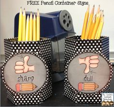 Free Sharp/Dull Pencil Signs :)