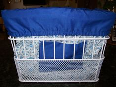 Reversible bicycle basket liner by Wrapsforall on Etsy