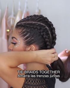Long Box Braids: 67 Hairstyles To Upgrade Your Box Braids - Hairstyles Trends Ethnic Hairstyles, Braided Hairstyles Tutorials, Box Braids Hairstyles, Elegant Hairstyles, Pretty Hairstyles, Hair Places, Long Box Braids, Hair Trends, Curly Hair Styles