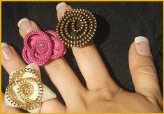 zipper flower rings