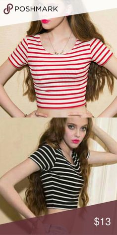 Red White Stripe Crop Top New Red White Stripe Crop Top. See boutique for more fashions!  #love #beauty #makeup #fashion #swimsuit #streetwear #style #trend #boho #matte #201 #designer #crop #mid #wedding #marriage #women #plussize #plus #petite #small #medium #large #unicorn #brush #gold #silver #human #hair #dress #shirt #short #top #sunglasses #watches #jewelry #choker #multilayer #bohemian #rings #leggings #necklace #bracelet #crop #mini #sweater #animal #print Rima Imar Tops Crop Tops