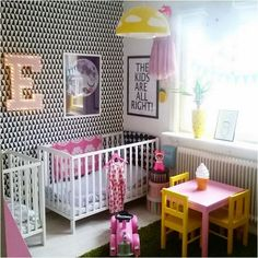 a colorful kids room
