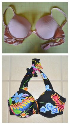 True Blue Me & You: DIYs for Creatives — DIY Bra to Bathing Suit Top Tutorial from Tasha...