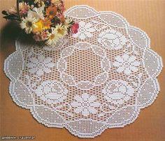 Interior Design Ideas For Home Decor - Page 4 of 8 - Crochet Filet Filet Crochet, Crochet Chart, Thread Crochet, Irish Crochet, Knit Crochet, Crochet Patterns, Crochet Tablecloth, Crochet Doilies, Crochet Home