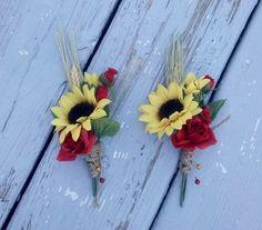 fall wedding sunflowers   rustic sunflower wedding bouqets   Fall Wedding flowers Mens ...