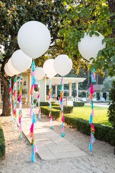 Check out the wonderful tassel balloon decorations at this Summer of Love B. Check out the wonderful tassel balloon decorations at this Summer of Love Birthday Party! See more party ideas and share yours at CatchMyParty. Graduation Party Decor, Grad Parties, Summer Parties, Unicorn Birthday Parties, Unicorn Party, Birthday Ideas, Birthday Diy, 50th Birthday Balloons, Wedding Balloons