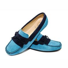 Fringe Moccasin Wmns Aqua Navy now featured on Fab.