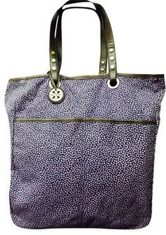 b254e7dd046e Tory Burch Reversible Canvas Purple Denim Tote Bag. Get one of the hottest  styles of