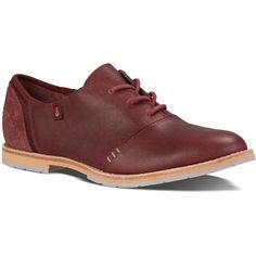 Ahnu Women's Emery Oxford ($160) ❤ liked on Polyvore featuring shoes, oxfords, oxblood, waterproof shoes, flexible shoes, waterproof footwear, lightweight waterproof shoes and waterproof leather shoes