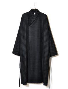 Sasquatchfabrix - Oriental Big Coat (Navy check)