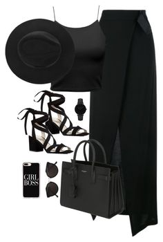 """Untitled #2959"" by theaverageauburn on Polyvore featuring Ann Demeulemeester, Kenneth Cole, Yves Saint Laurent, CLUSE, RetroSuperFuture and Casetify"