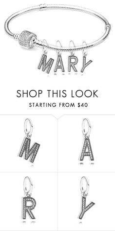 """""""It's my bracelet"""" by mariami-princess2013 ❤ liked on Polyvore featuring Pandora"""