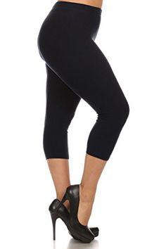Leggings Depot Womens Popular PLUS CAPRI CROPPED SOLID HIGH WAIST LEGGINGS - http://darrenblogs.com/2016/06/leggings-depot-womens-popular-plus-capri-cropped-solid-high-waist-leggings/