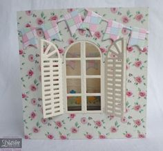 Die'sire Spring and Summer Dies: Mediterranean Window and Pennant Bunting, with Embossing Folder Textures Dry Stone Wall - #crafterscompanion